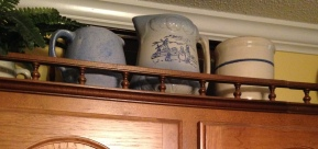 blue crockery